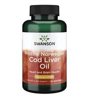 Pristine Norwegian Cod Liver Oil Swanson kapsule ulja jetre bakalara
