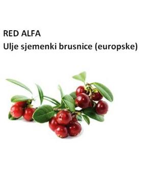 biljno ulje sjemenki brusnice europske, co2; RED ALFA LINGONBERRY SEED OIL