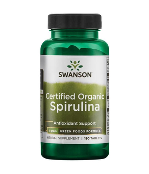 spirulina organska, swanson kapsule spiruline