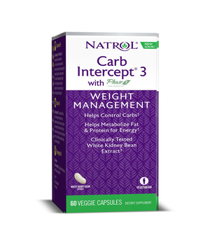 Carb Intercept 3 with Phase2 & WHITE KIDNEY BEAN  Natrol kapsule za mršavljenje