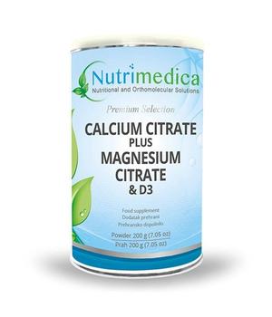 kalcij citrat + magnezij citrat + d3 nutrimedica