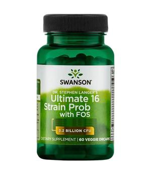 Ultimate 16 Strain ProBiotic + FOS kapsule Swanson